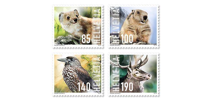 COLLECTORZPEDIA: Switzerland Stamps Wild Animals