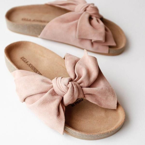 Ulla Johnson Ingrid Slides – Blush/Pink