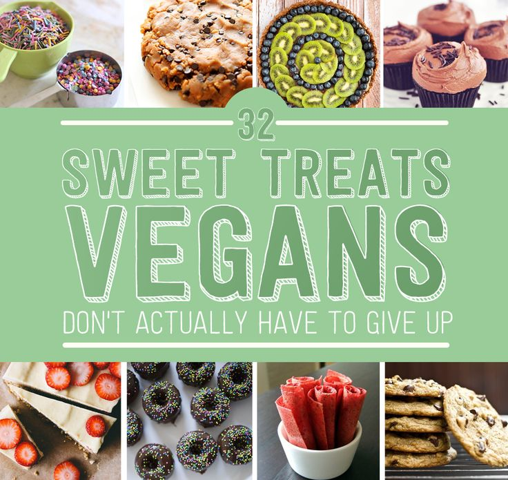 Just because you went vegan doesn't mean you gave to give up the good stuff. BRING ON THE DESSERT!
