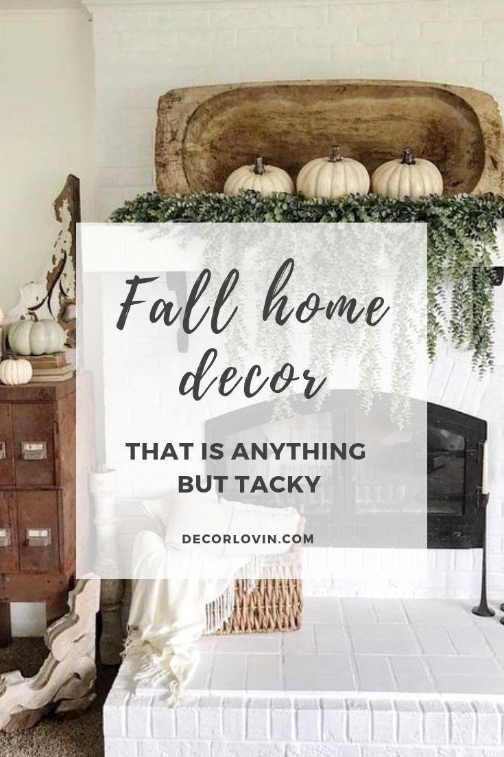 chic fall home decor that isn t tacky halloween decor fall home rh pinterest com