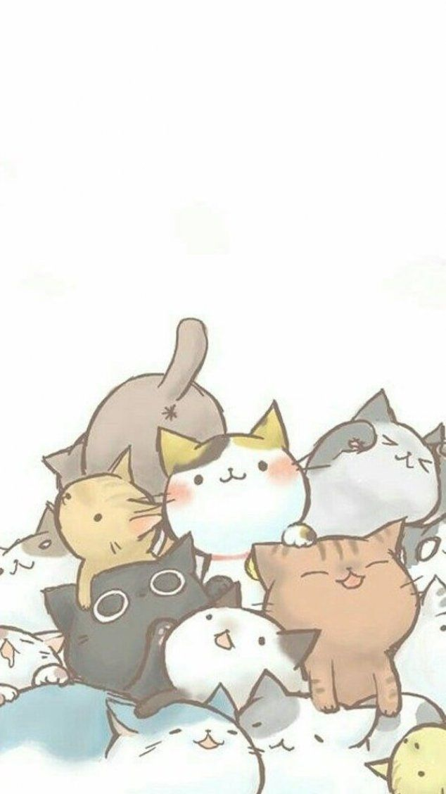 Wallpaper For Cat Lovers Drawings Lovers Drawings Cats Los Papel Cat Cats Drawings Los Cute Cat Wallpaper Cute Cat Drawing Cute Cartoon Wallpapers