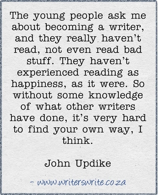 john updike s why write Is it possible for a novelist to write too well this has sometimes seemed to be  the case with john updike, whose ability to evoke physical detail.