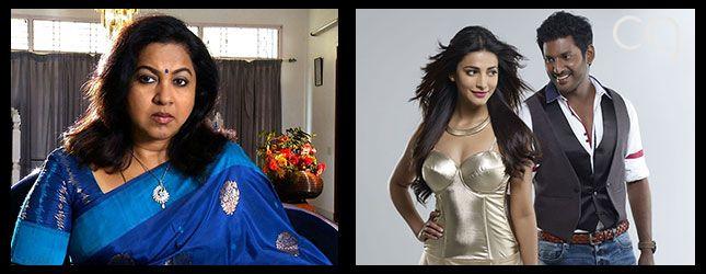Radhika Sarathkumar in Vishal starrer Poojai!
