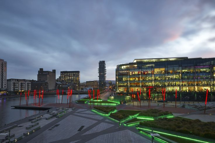 Grand Canal Square at Dusk