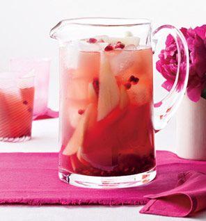Clinton Kelly's Pomegranate-Pear Sangria: Recipes: Self.com