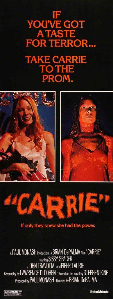 Carrie (1976) Original Insert Movie Poster