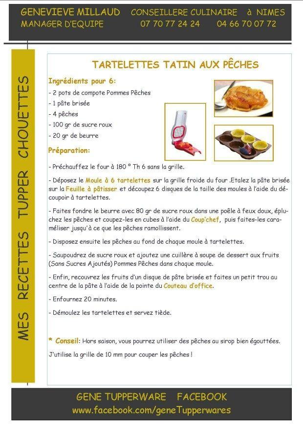 Tupperware - Tartelettes matin aux pêches