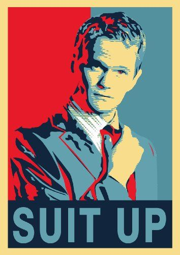 Suit up Poster- Red Blue Poster Barney Stinson- Legendary Bro Code Playbook - Barney Stinson Poster Suit up - How I Met Your Mother Suit up Poster - Suit up Day - That's Gonna Be Legen ... Wait for It ... Dary Poster - Awesome - Awesomeness Suit up Rot Blau Poster www.great-art.de http://smile.amazon.com/dp/B00A8N2YC6/ref=cm_sw_r_pi_dp_FCN6ub1NN7CVQ