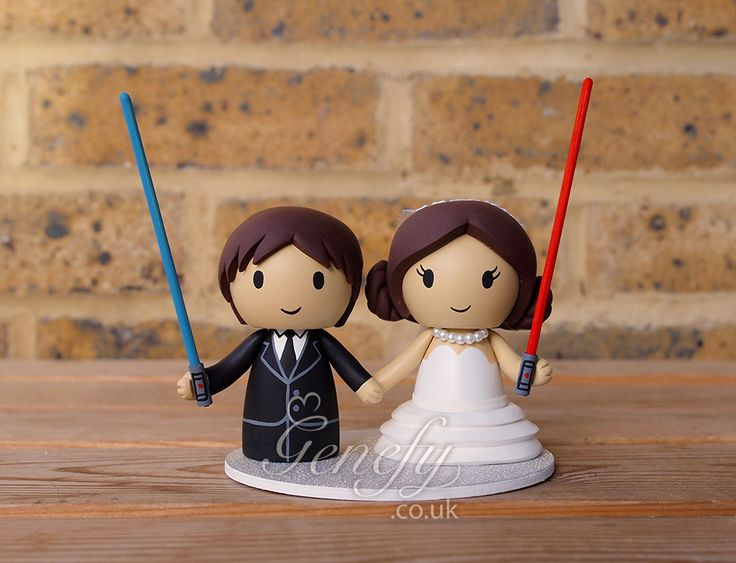Han Solo and Princess Leia wedding cake topper by Genefy Playground https://www.facebook.com/genefyplayground