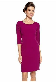 Nine West Dress Three-Quarter Sleeve Sheath Dress