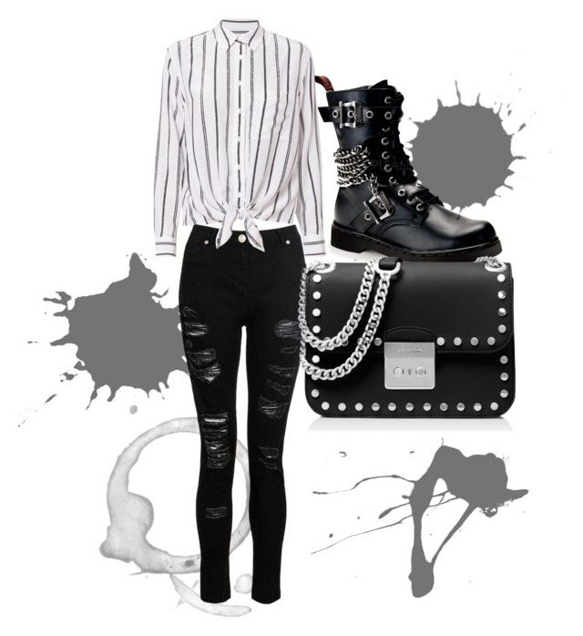 """""""rocker chick"""" by chloeathome on Polyvore featuring Dorothy Perkins, Demonia, Equipment and MICHAEL Michael Kors"""
