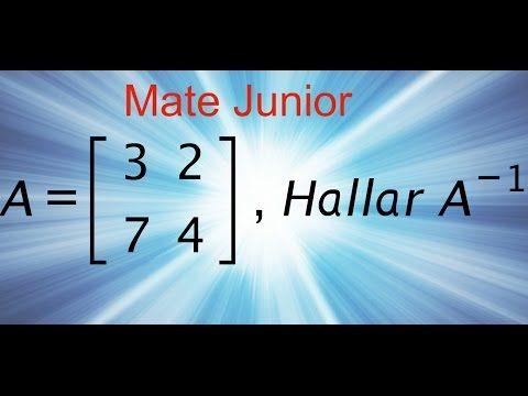 Como desarrollar la inversa de una matriz Sigueme en facebook y YouTube como Mate Junior
