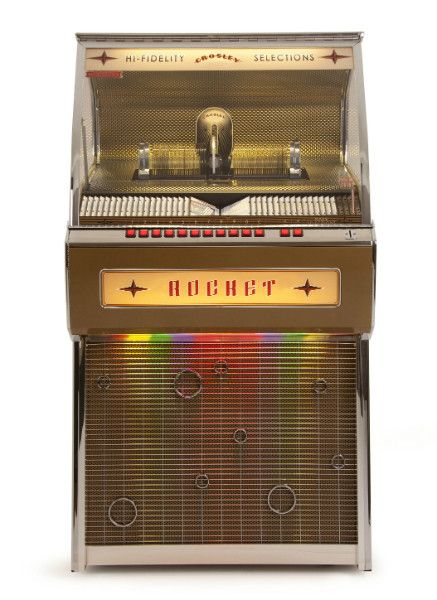 [ Overview ] Crosley has done it again. This beautiful full-size jukebox is built to commercial standards (including a coin changer!) and is quite simply, the finest jukebox made today! Handcrafted in