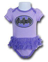 Batgirl Symbol Infant TuTu Snapsuit