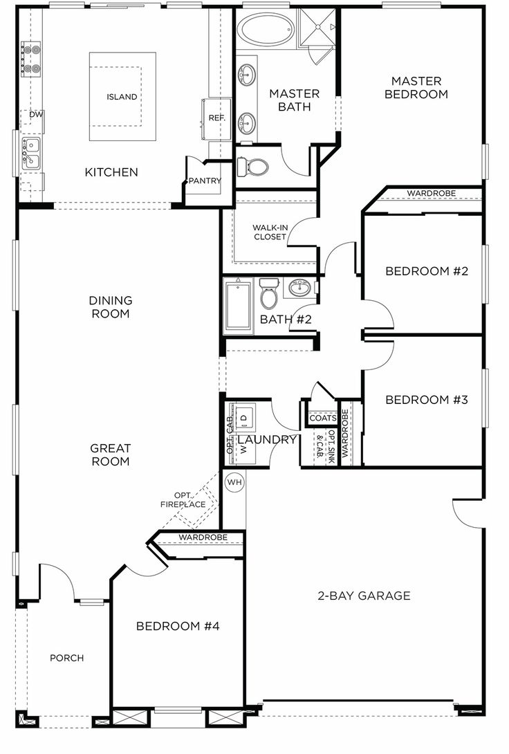 New Single Story Plan: Fair Oaks Ranch Plan 5A #green #home · Rectangle  House ...