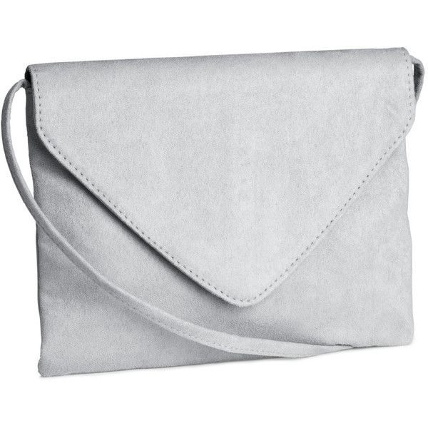 H&M Shoulder bag ($16) ❤ liked on Polyvore featuring bags, handbags, shoulder bags, grey, h&m, gray purse, flap handbags, shoulder strap handbags and h&m handbags
