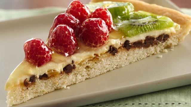 Raspberry Kiwi Fruit Pizza
