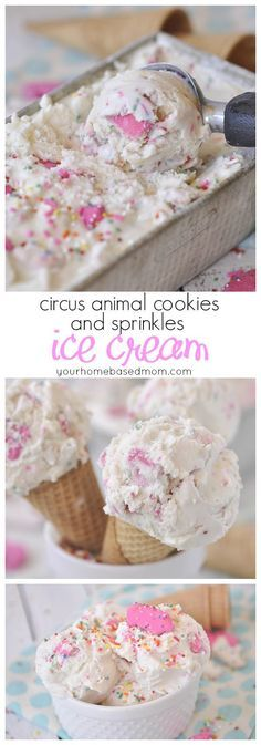 Circus Animal Cookies and Sprinkles Ice Cream - eating ice cream has never been so much fun!!