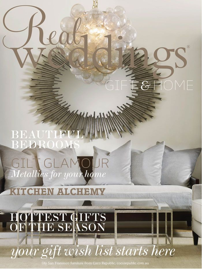 Real Weddings - Issue 25; gift and home flip