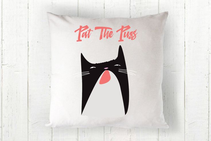 Pat The Puss - 3 sizes available - Throw Pillow - Pop Culture Gifts - RHOBH Erika Jayne Inspired