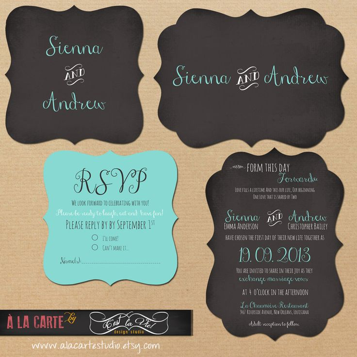 34 best ideas about TIFFANY BLUE wedding invitations – Rom Invitation Card