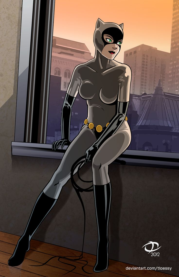Catwoman (animated series costume u0027natch) leaving for the night. Created for Project Rooftopu0027s Fan-Art Friday Catwoman! & 181 best Catwoman images on Pinterest | Comics Cat women and Comic art
