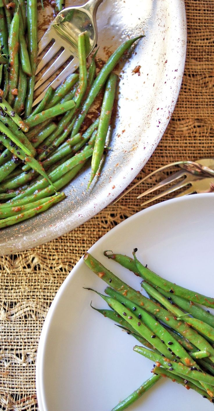 Miso Butter Green Beans. | Snack attack!!! | Pinterest