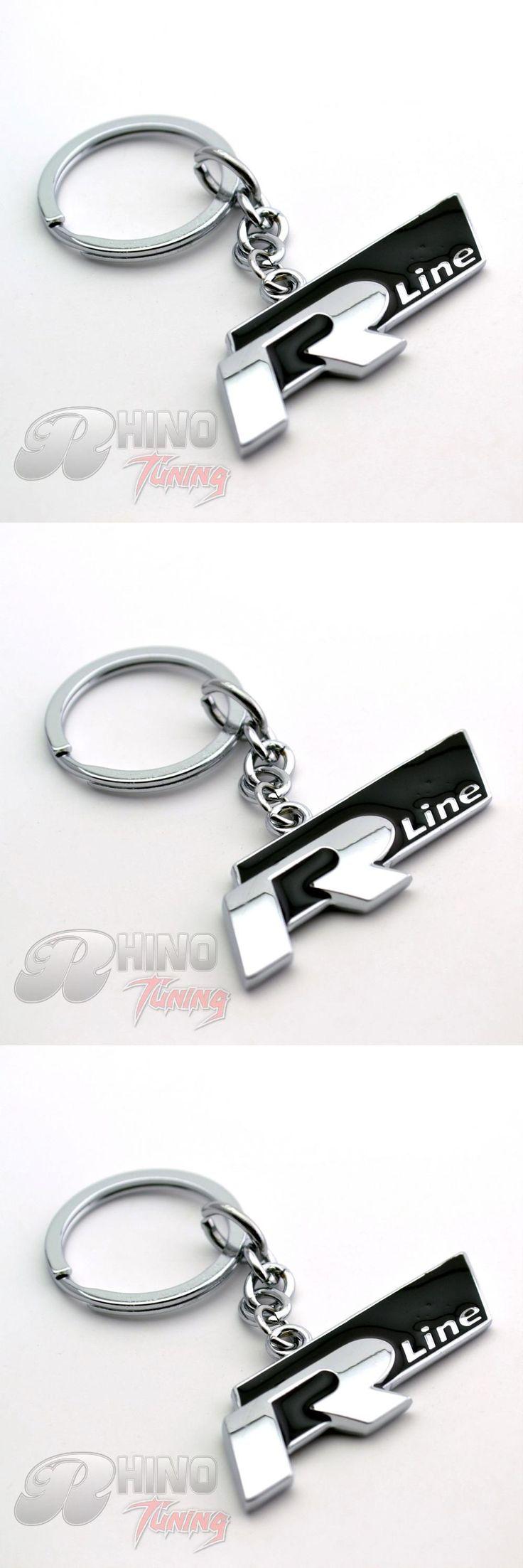 [Visit to Buy] Rhino Tuning High Quality Metal R Line Car Key Ring for GOLF 6 GOLF 7 MK5 MK6 MK7 Polo Car Key Chain Auto Accessory 220bk #Advertisement