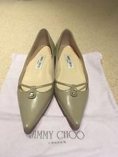 Jimmy Choo Ladies Shoes 38/38.5 Thyme Colour Worn Once RRP £355.00