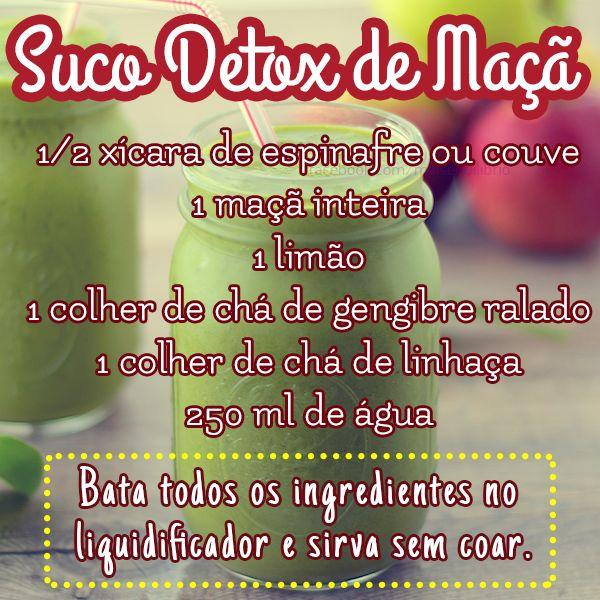 Delícia e ainda é #detox <3 #apple #maça #receita #suco