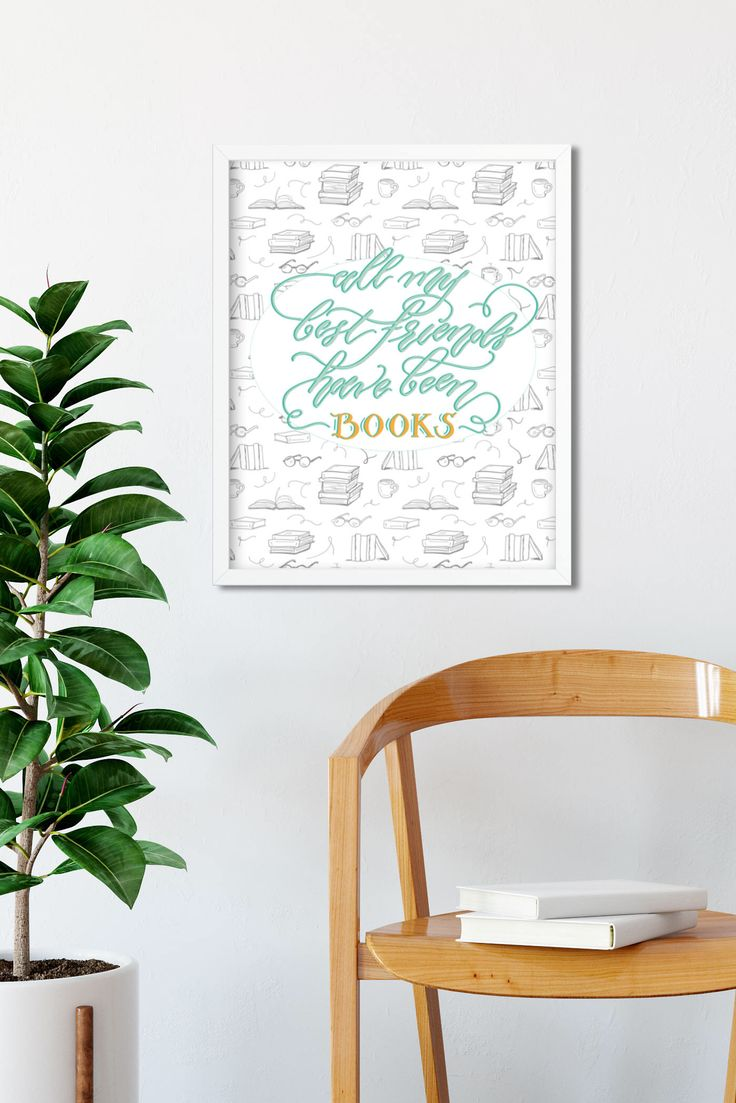 Book Lovers Gift-  super cute bookish decor!
