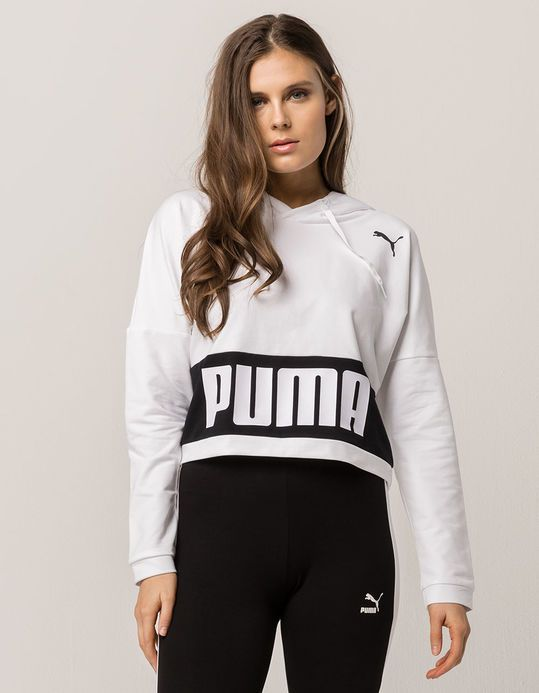 77b184e5fe4 PUMA Training Urban Sports Womens Crop Hoodie | Tillys in 2019 ...