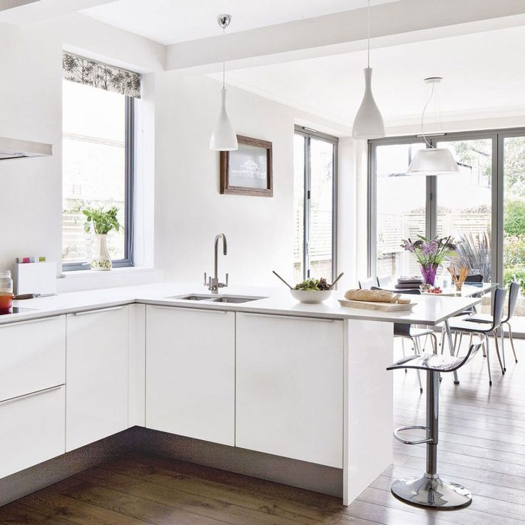 White Kitchen Extensions best 10+ minimalist kitchens with peninsulas ideas on pinterest