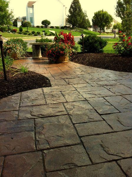 Excellent stamped concrete patio design ideas patio - Patios exteriores ...