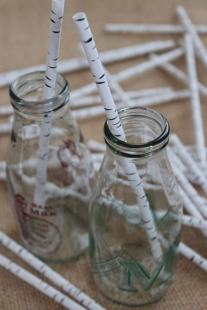 Biodegradable paper straws are a green alternative to plastic straws.