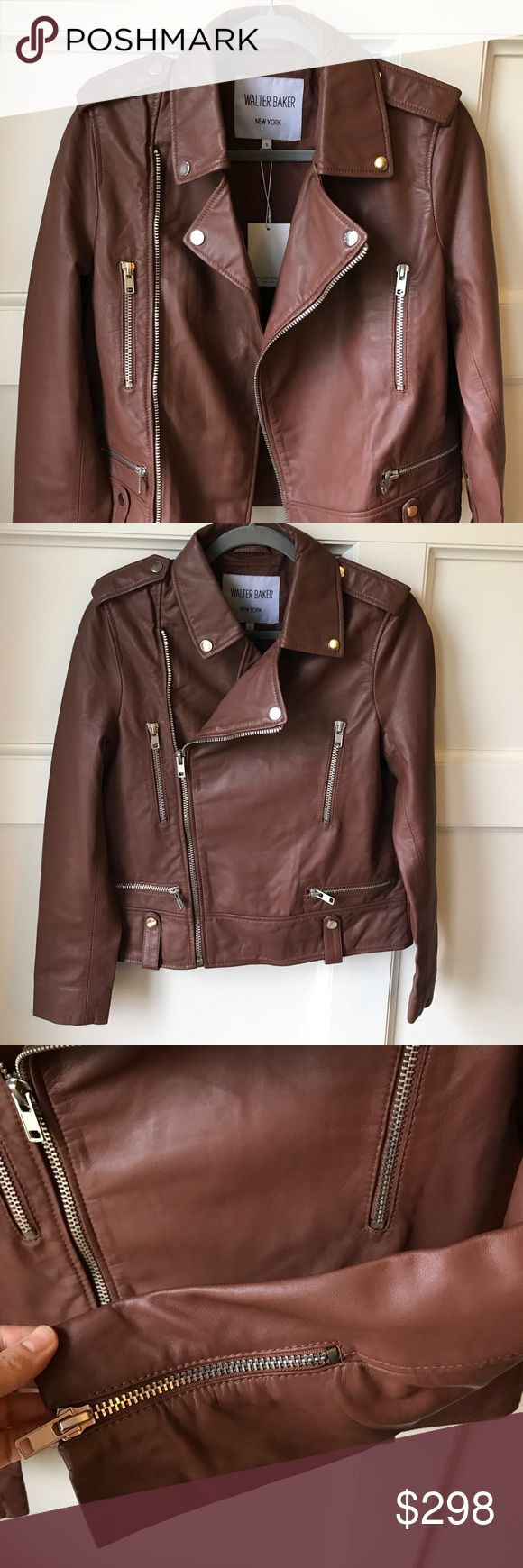 Walter Baker leather jacket Gorgeous classic leather jacket by Walter Baker New York. The clay color is beautiful and the leather is very soft. It's a little too small for me or I would totally keep it!! Walter Baker Jackets & Coats