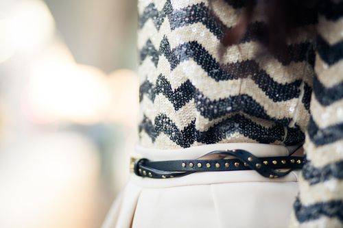 sequin chevron: Sweaters, Dreams Closet, Sequins Chevron, Style, Shirts, Black White, Fall Chic, Belts, Chevron Stripes