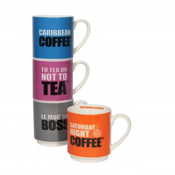 Mugs Empilables Set de 4