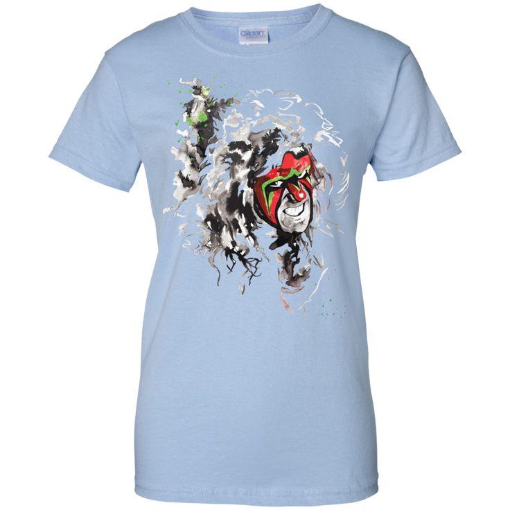 WWE Ultimate Warrior Mens White T-shirt (1)-01 Ladies Custom 100% Cotton T-Shirt