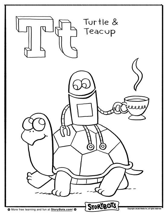 All storybots coloring pages coloring pages for Learning planet alphabet coloring pages