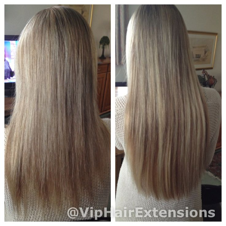 """22"""" beautiful blonde mini micro rings on fine hair www.viphairextensions.co.uk"""