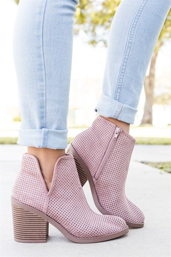​Show off your sense of style in these savvy mesh ankle heel booties. You can choose to either dress them up or dress them down! Crafted with smooth faux suede and features a closed pointed/almond toe, mesh design.