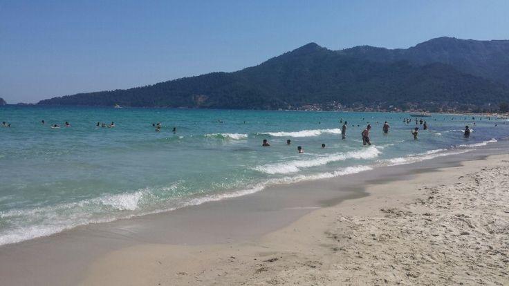 Golden Sands Beach, Thassos Island, Greece