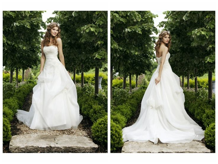 APPLIQUE ACCENTS LACE UP BODICE A-LINE LUCKY WEDDING DRESS