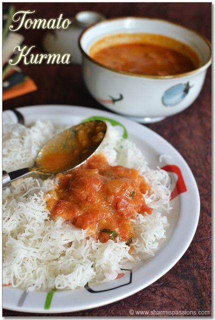 Tomato Kurma - Thakkali Kurma Recipe | Sidedish for Idiyappam, Idli Dosa