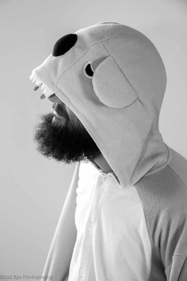 Male Black and white studio portrait