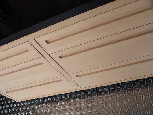 soft wood. no handles.