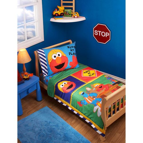 Noah beddingStreet Construction, Construction Zone, Toddlers Sets, Toddlers Beds, 4Piec Toddlers, Toddlers Room, Sesame Streets, Bedding Sets, Beds Sets