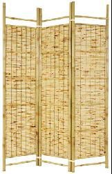 @Overstock.com - Burnt Bamboo Shoji Screen (China) - Add a tropical flavor to your home decor with this Burnt Bamboo Shoji three-panel screenRoom divider is crafted from kiln-dried bamboo pole and split bamboo pole slatsDecorative accessory is slightly folded to stand upright  http://www.overstock.com/Worldstock-Fair-Trade/Burnt-Bamboo-Shoji-Screen-China/4013352/product.html?CID=214117 $153.00