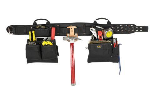 Custom Leathercraft 5608 16 Pocket 4-pc Carpenter's Tool Belt